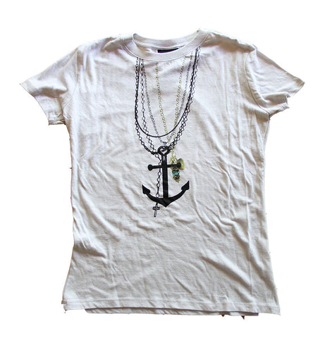T SHIRT WOMEN ROCK STEADY Anchors