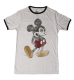 T SHIRT MEN RINGER Mickey Skull