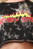 Baby Girl Tie Dye Jersey Knit Chained Crop Top