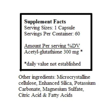 Amy Myers Acetyl-Glutathione Capsules Supplement Amy Myers MD