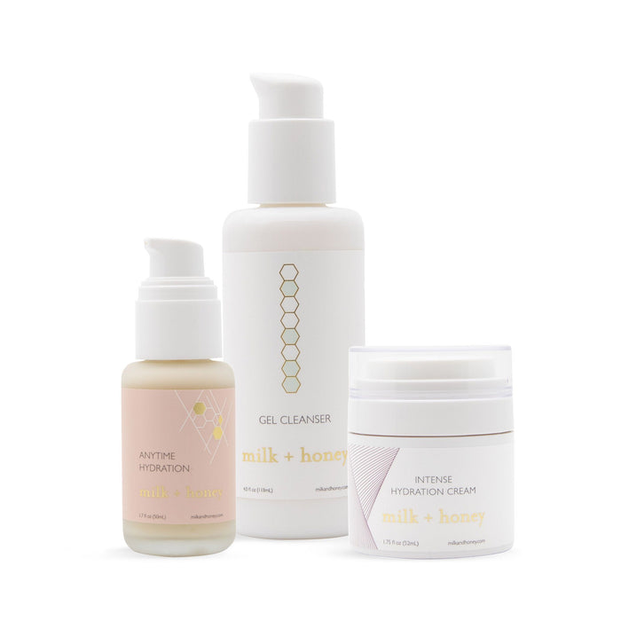 Cleanse + Hydrate Skincare Bundle Gift Set milk + honey