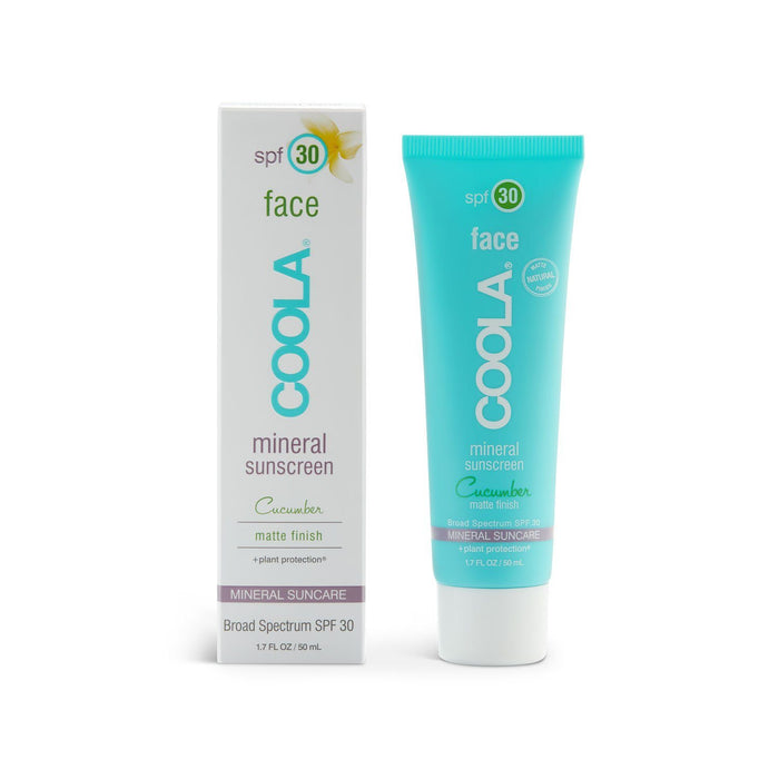 COOLA Mineral Face SPF 30 Cucumber Untinted Matte Moisturizer Suncare COOLA