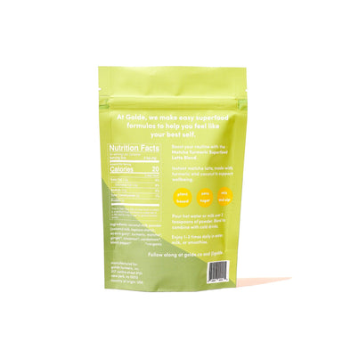 Golde Matcha Turmeric Latte Blend Supplement Golde