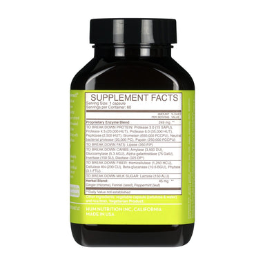 HUM Flatter Me Digestive Enzyme Supplement Supplement HUM Nutrition