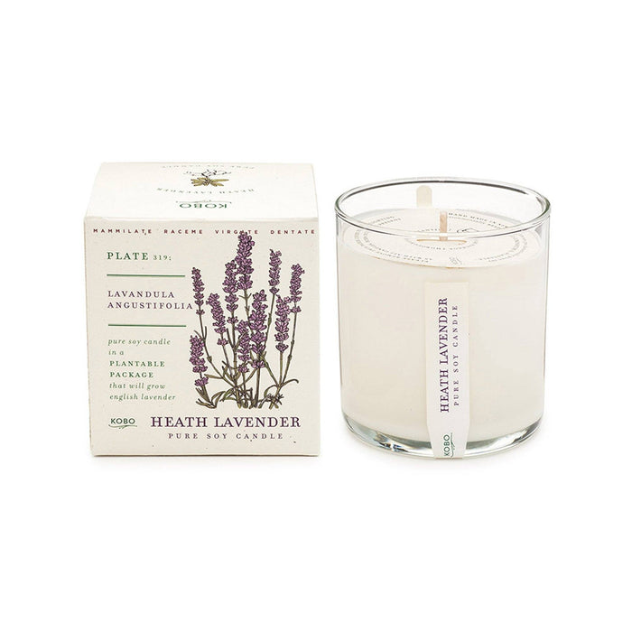 KOBO Candles | Plant the Box Collection Full Size Candle KOBO Heath Lavender (lavender essential oil)