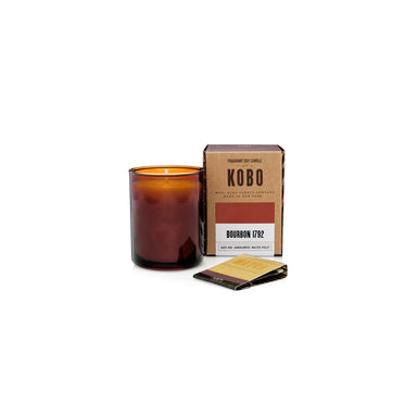 KOBO Candles | Woodblock Collection Votive Candle KOBO Bourbon 1792 (aged oak, sandalwood, malted violet)