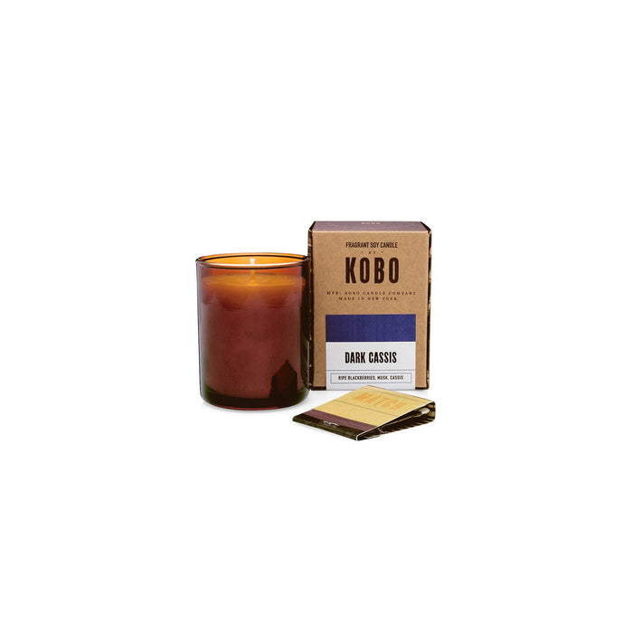KOBO Candles | Woodblock Collection Votive Candle KOBO Dark Cassis (ripe blackberries, musk, cassis)