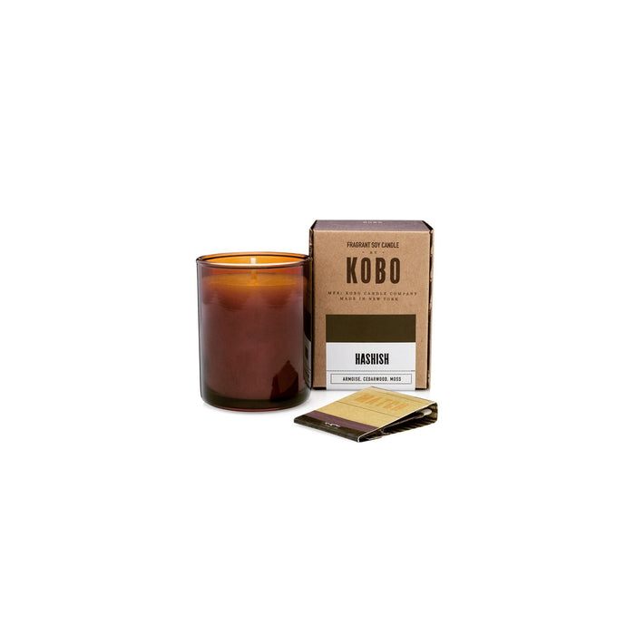 KOBO Candles | Woodblock Collection Votive Candle KOBO Hashish (armoise, cedarwood, moss)