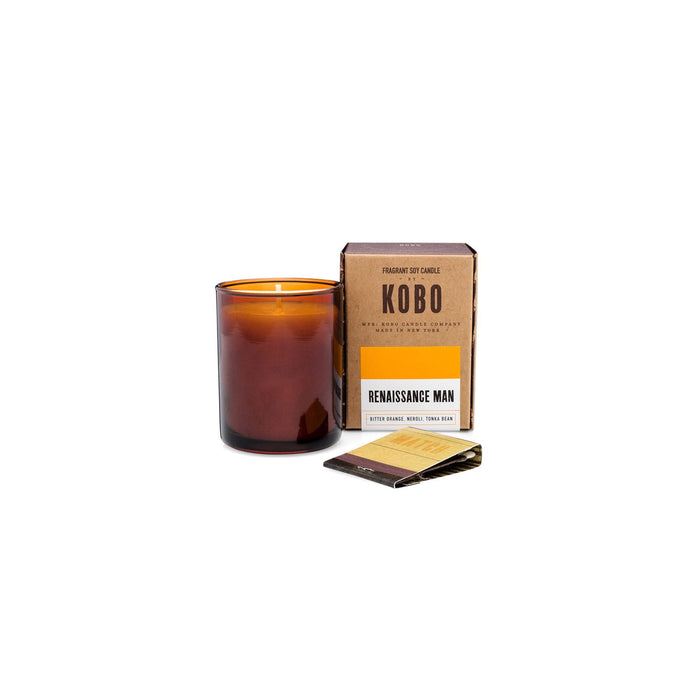 KOBO Candles | Woodblock Collection Votive Candle KOBO Renaissance Man (bitter orange, neroli, tonka bean)