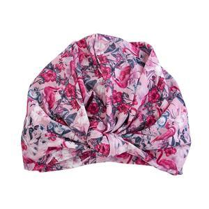 Louvelle Chic Turban Style Shower Cap Accessories Louvelle Flamingo
