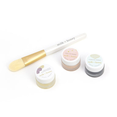 Masque Trio Masks and Exfoliants milk + honey