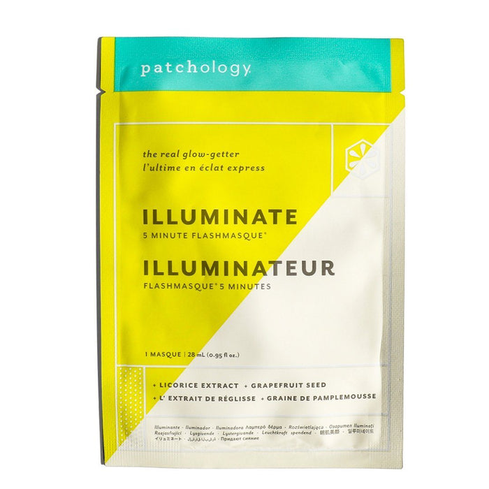 Patchology FlashMasque® Illuminate 5 Minute Sheet Mask Masks and Exfoliants Patchology