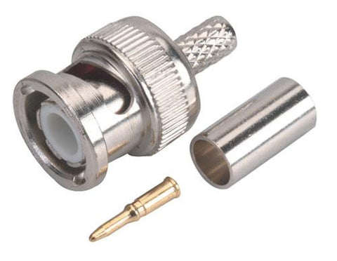 BNC Hex Crimp Connector 3pc RG58 (200-145)