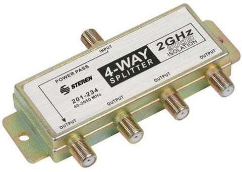 4-Way 2.4GHz 90dB 1 Port Power Pass Splitter (201-234)