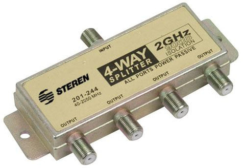 4-Way 2.4GHz 90dB Power Pass Splitter (201-244)