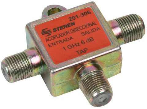 "2-way, 1 GHz, 9 dB / 90 dB, 75 Ohm, T type, directional coupler with ""F"" threaded connectors (201-309)"