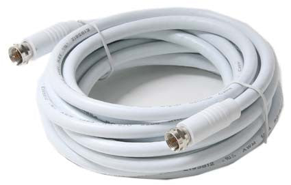 F-F RG6 Patch Cable UL - White - Multiple Lengths (205-4xxWH)
