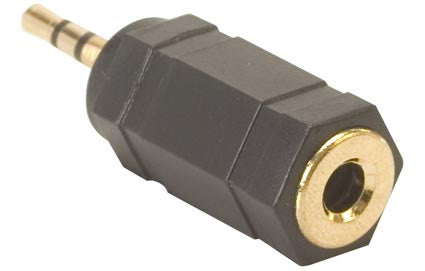 2.5 mm Plug to 3.5 mm Jack, Stereo, Elite Adapter (252-140)