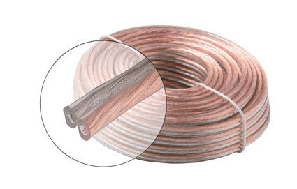 25' 16AWG 2C Speaker Cable, CL (255-816)
