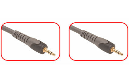 Home theatre cable with male 3.5 mm plug to male 3.5 mm plug, stereo, Multiple Lengths (284-07x)