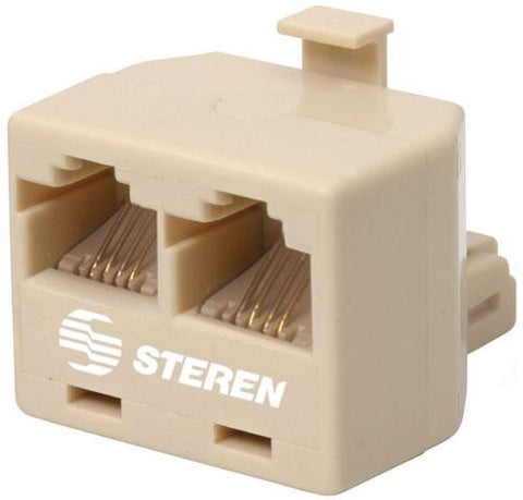 Modular 4C Tel T Adapter - Ivory or White (300-024)