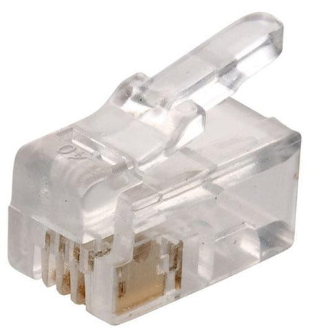 4-Conductor RJ22 Plug for Handset Cords (300-062)