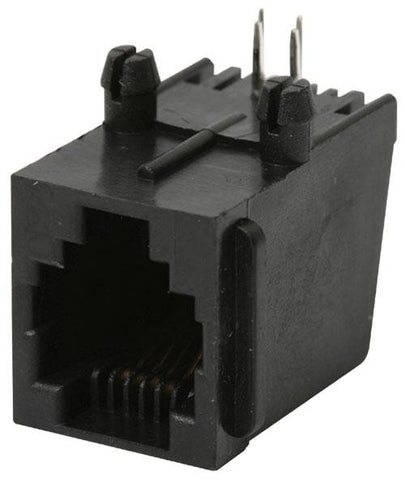 4-pin RJ11 (Jack) Telephone Connector for Printed Circuit (300-086)