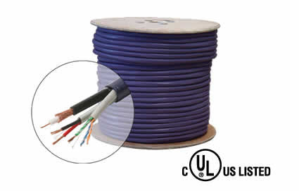 1000ft Cat5e+18/2 + RG59 Bundled UL Cable (300-669PR)
