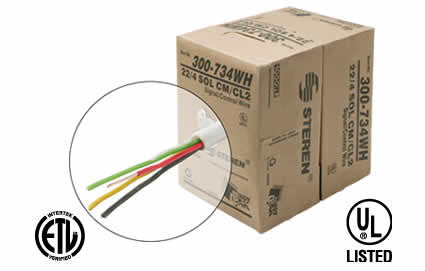 1000' 4C Solid Power Limited Cable CL2, WH (300-734WH)