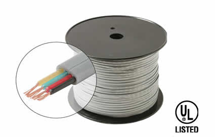 1000' 4C Flat Telephone Cable UL, SL, [A] (301-840)
