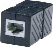 Cat6 In Line Coupler, BK / WH (310-040)