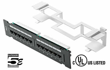 12-Port Cat5e 110-IDC Mini Patch Panel (310-320)