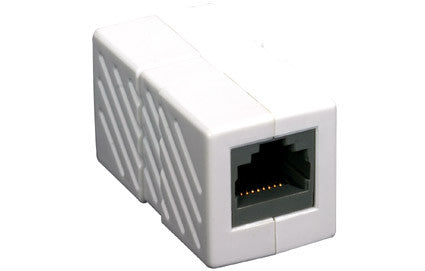 Category-5E RJ45 Keystone crossover coupler, White (350-039)