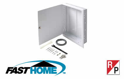 "19"" FastHome™ In-Wall Mount Network Enclosure (550-200)"