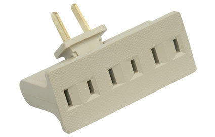 3-outlet grounding adapter with retractable plug (905-110)