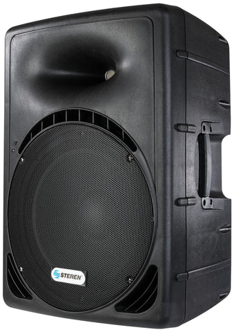 15 In Powered PA Speaker with iPod or iPhone 4 or 4s dock and memory reader (BAF-1599)