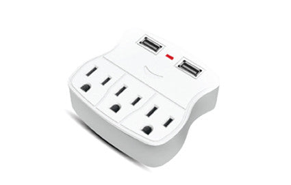 Triple Tap Power Outlet and USB Converter, 2.1A (BL920-310)