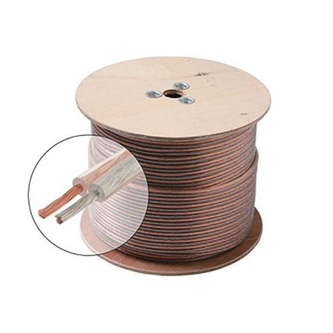 500' 18 Gauge Clear Jacket Speaker Cable Spool (255-418)