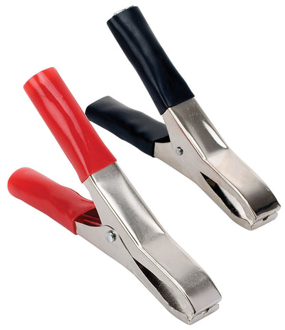40 Amp, 3.9 x 0.5 in (10 x 1.4 cm) battery type alligator clip - Black or Red (CAI-107)