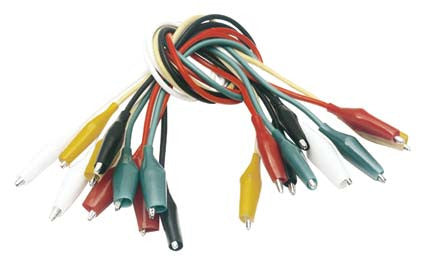 BULK- 3A Alligator Clip Cable Kit - 10 piece bundle (259-235)