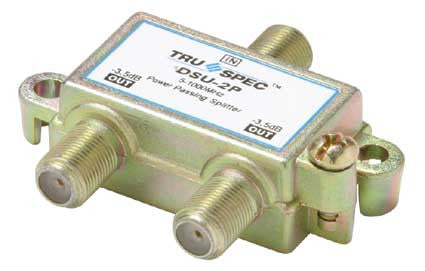 2-way, 1 GHz, 15 Ohm, UHF/VHF/FM, 5-1000 MHz, 3.5-5 dB / 27 dB, splitter (DSU-2P)