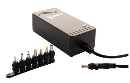 Voltage Converter 24 VDC, 2 A, Variable Output AC Adapter with 8 Detachable Tips (ELI-2024)