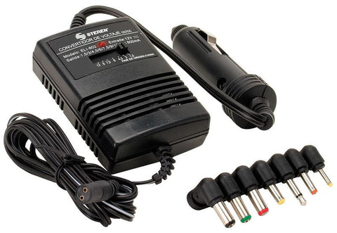 Voltage Converter 800 mA, Automotive Power Adapter with 7 Connectors and Car Lighter Plug (ELI-802)