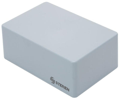 5.9 x 3.8 x 2.3 in (15 x 9.9 x 6 cm) Grey plastic box with lid for electronic projects (GP-02)