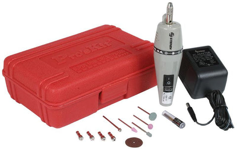 Mini Drill / Grinder with 5 Drill Bits and 5 Grind Bits - 12000 to 13000 RPM (HER-200)