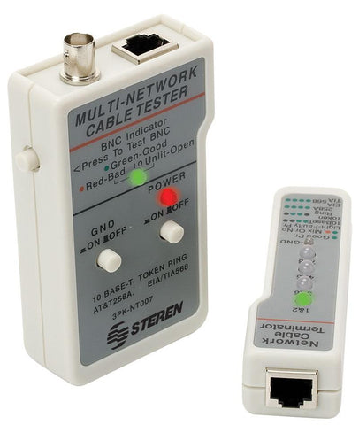 CAT-5 UTP, FTP, STP and coaxial (BNC) cable tester (HER-600)