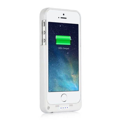 SingTech iPhone 5/5S Rechargeable Protective Battery Case 2200mAh - Black or White (SING-4839)
