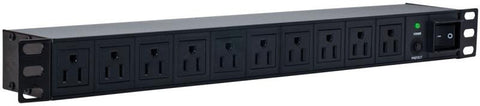 "HORIZONTAL SURGE STRIP 19"" RACK WITH 10 OUTPUTS (MOR-015)"