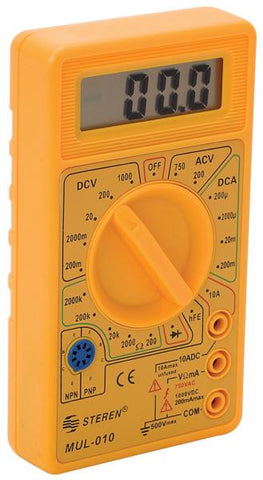 Low-price digital multimeter with diode and transistor tester (MUL-010)