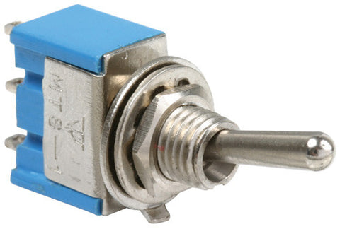 125 / 250 VAC, 3 / 6 A, 1 pole / 2 throws, 3 positions (ON-OFF-ON) miniature toggle switch (S-117)